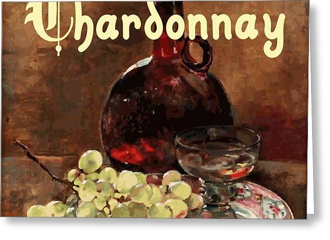 Chardonnay Vintage Advertisement Greeting Card by