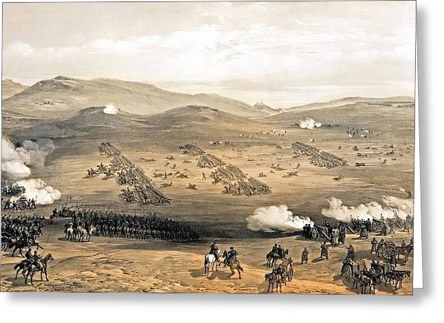 Best Sellers -  - Brigade Greeting Cards - Charge of the light cavalry brigade Greeting Card by Celestial Images