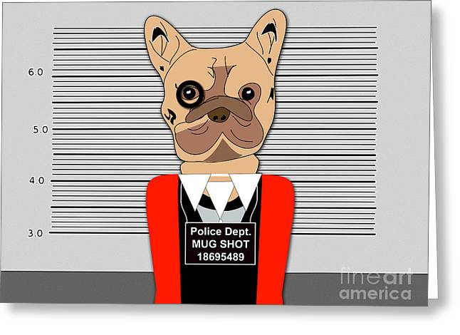 Dog Greeting Cards - Charged With a Misdemeanor Greeting Card by Marvin Blaine
