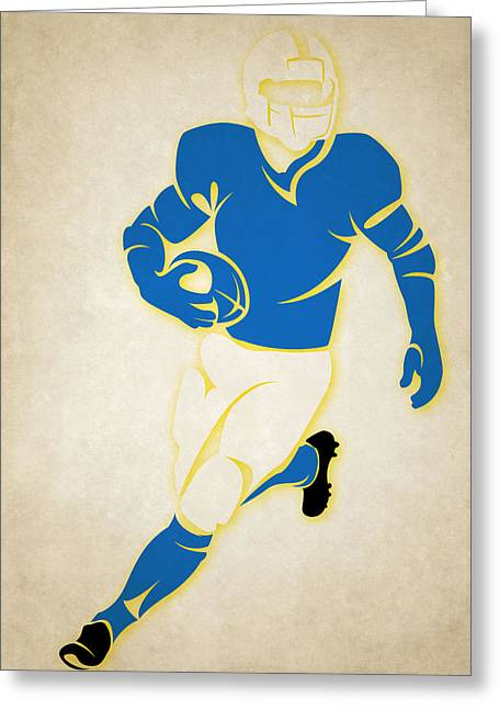 San Diego Chargers Greeting Cards - Chargers Shadow Player Greeting Card by Joe Hamilton