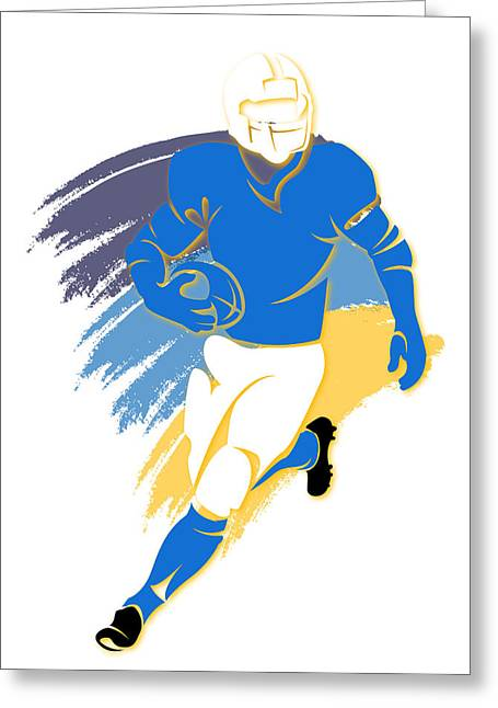 San Diego Chargers Greeting Cards - Chargers Shadow Player2 Greeting Card by Joe Hamilton
