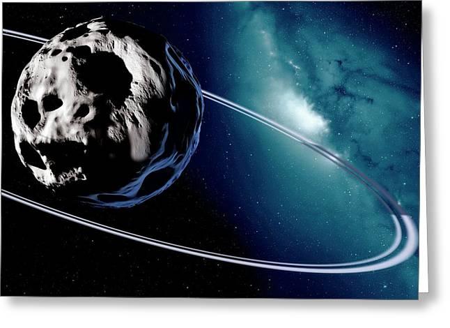 Chariklo Minor Planet And Rings Greeting Card by Detlev Van Ravenswaay