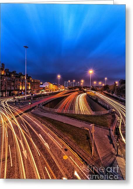 Glasgow Greeting Cards - Charing Cross Glasgow Greeting Card by John Farnan