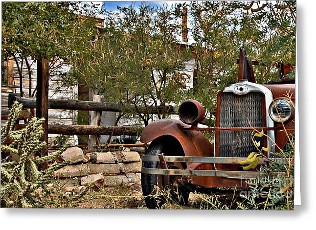 Old House Photographs Greeting Cards - Chariot Awaits Greeting Card by Lee Craig