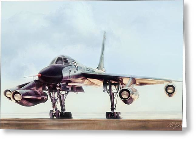 Mach Digital Art Greeting Cards - Chariot Of The Gods B-58 Greeting Card by Peter Chilelli