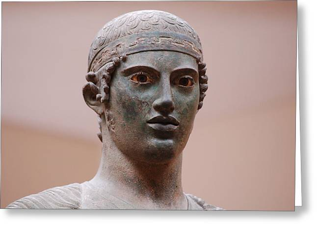Ancient Sculptures Greeting Cards - Charioteer  Greeting Card by Beth Wolff