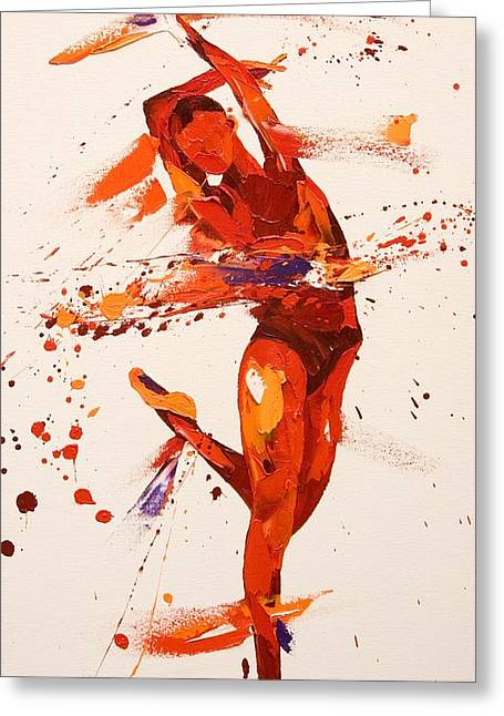 Ballet Dancers Paintings Greeting Cards - Charisma  Greeting Card by Penny Warden