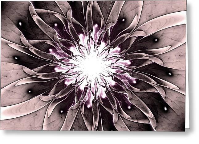 Blooming Mixed Media Greeting Cards - Charismatic Greeting Card by Anastasiya Malakhova