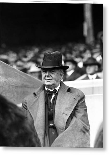 Owner Greeting Cards - Charles A. (charlie) Comiskey Manager  Greeting Card by Retro Images Archive