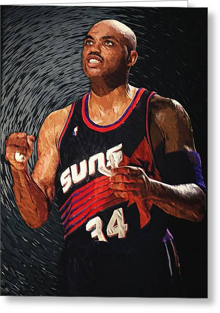 Artest Houston Rockets Greeting Cards - Charles Barkley Greeting Card by Taylan Soyturk