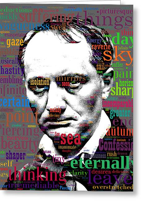 Charles Baudelaire Greeting Cards - Charles Baudelaire Greeting Card by Eric Edelman