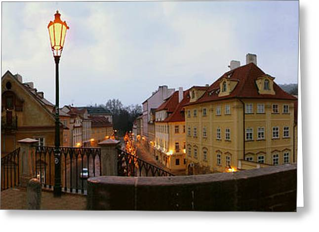 Historic Statue Greeting Cards - Charles Bridge 180 Greeting Card by Gary Lobdell