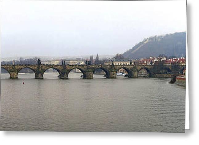 Charles Bridge Greeting Card by Gary Lobdell