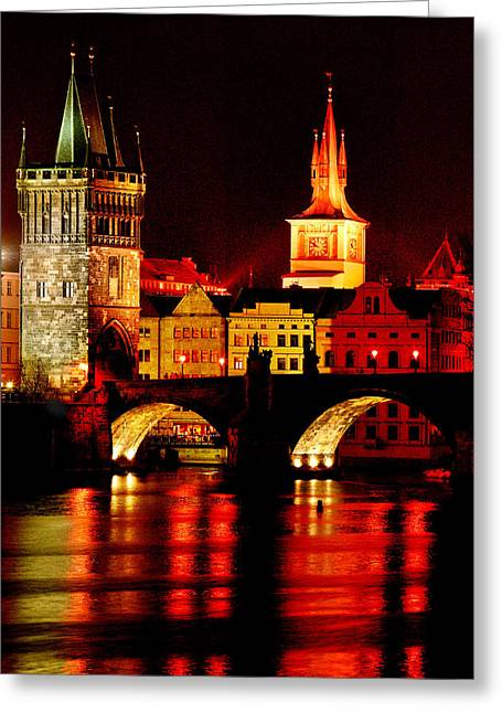 Most Greeting Cards - Charles Bridge Greeting Card by John Galbo