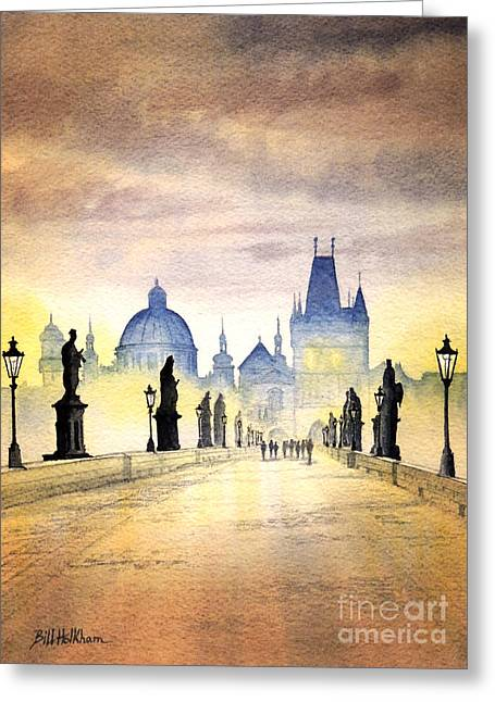Charles Bridge Paintings Greeting Cards - Charles Bridge Prague Greeting Card by Bill Holkham