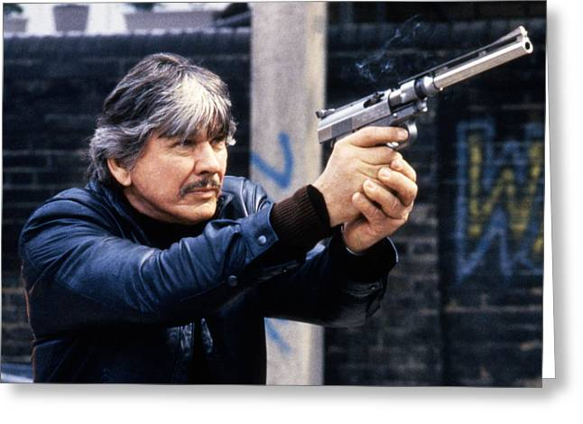 Wishes Greeting Cards - Charles Bronson in Death Wish 3  Greeting Card by Silver Screen