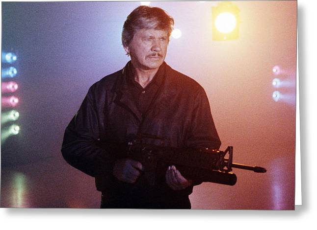 Wishes Greeting Cards - Charles Bronson in Death Wish 4: The Crackdown  Greeting Card by Silver Screen