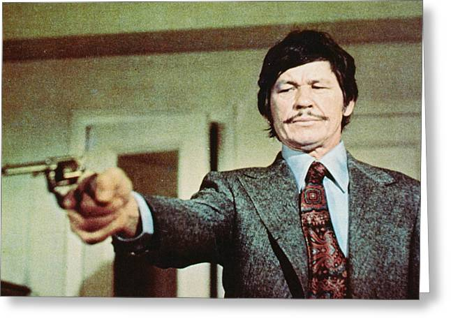 Wishes Greeting Cards - Charles Bronson in Death Wish  Greeting Card by Silver Screen