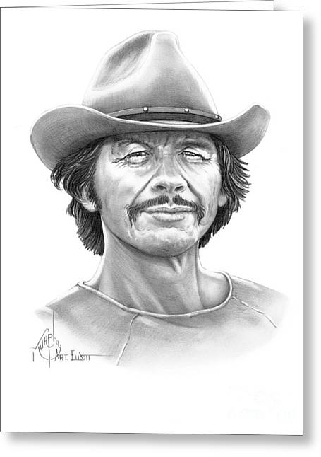Tough Guy Greeting Cards - Charles Bronson Greeting Card by Murphy Elliott