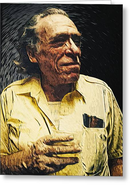 Bukowski Greeting Cards - Charles Bukowski Greeting Card by Taylan Soyturk
