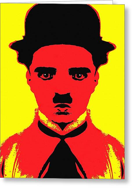 Charlot Greeting Cards - Charles Chaplin Charlot alias Greeting Card by Art Cinema Gallery