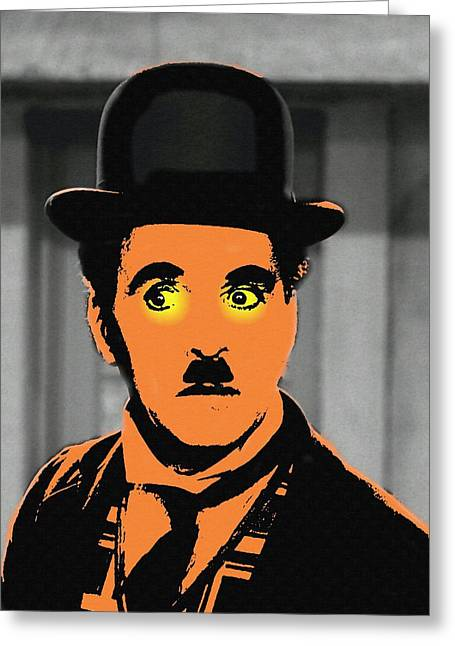 Charlot Greeting Cards - Charles Chaplin Charlot in The Great Dictator Greeting Card by Art Cinema Gallery