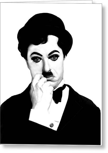 Charlot Greeting Cards - Charles Chaplin Greeting Card by Gina Dsgn