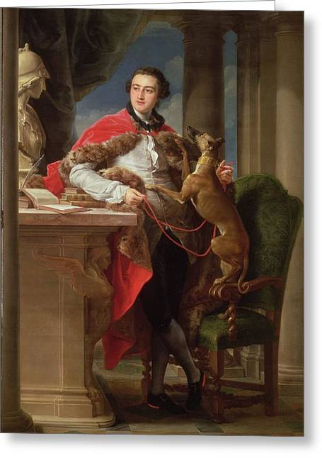 Whippet Greeting Cards - Charles Compton, 7th Earl Greeting Card by Pompeo Girolamo Batoni