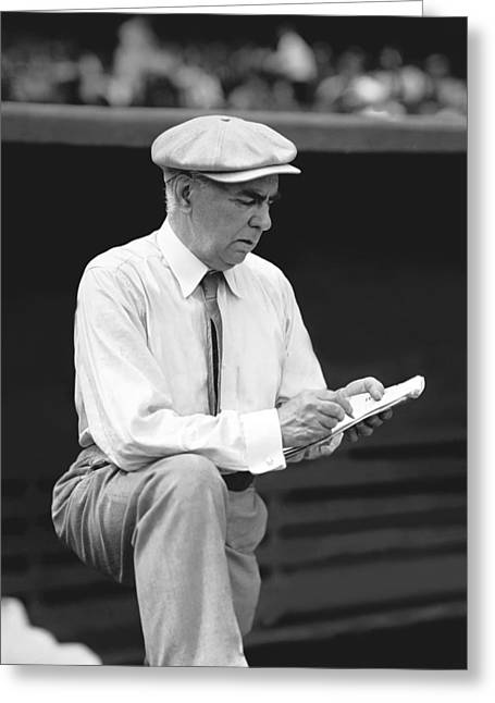 Baseball Cap Greeting Cards - Charles Conlon Greeting Card by Retro Images Archive