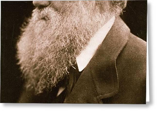 Charles Darwin Greeting Card by Julia Margaret Cameron