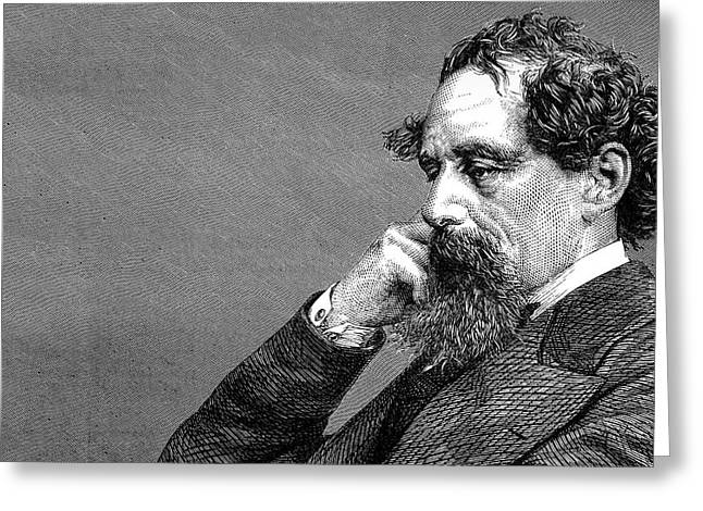 Charles Dickens Greeting Cards - Charles Dickens Greeting Card by Daniel Hagerman