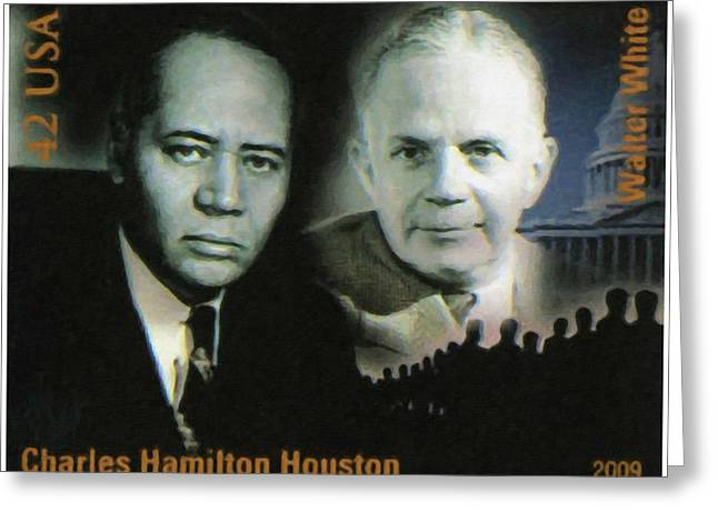 Abolition Paintings Greeting Cards - Charles hamilton Houston Greeting Card by Lanjee Chee