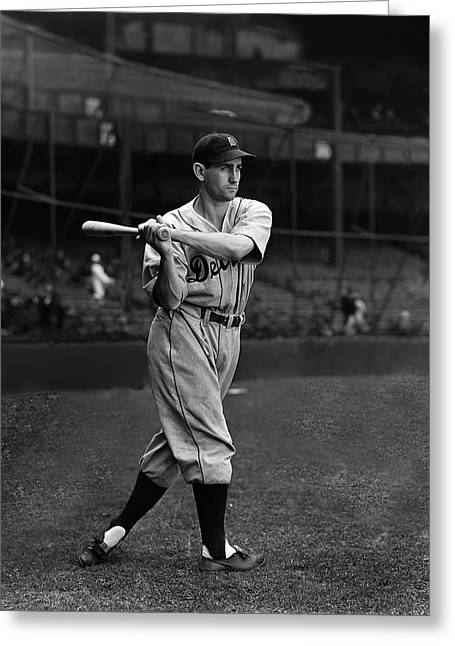 Detroit Tigers Photos Greeting Cards - Charles L. Charlie Gehringer Greeting Card by Retro Images Archive