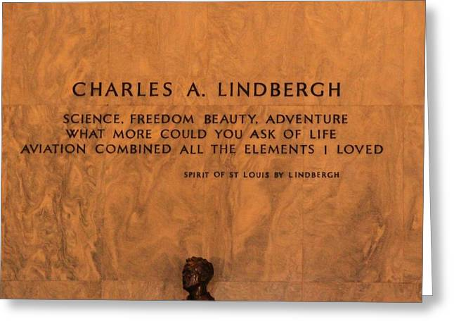 Philanthropist Greeting Cards - Charles Lindbergh Greeting Card by Dan Sproul