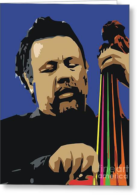 African-american Digital Greeting Cards - Charles Mingus Greeting Card by Walter Oliver Neal