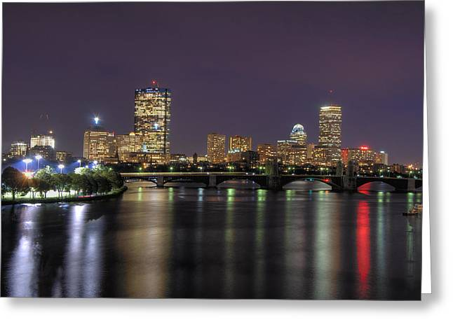 Charles River Reflections - Boston Greeting Card by Joann Vitali