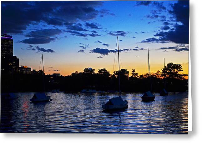 Boston Ma Greeting Cards - Charles River Sunset Boston Greeting Card by Toby McGuire