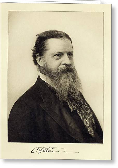 Charles Sanders Peirce Greeting Card by Miriam And Ira D. Wallach Division Of Art, Prints And Photographs/new York Public Library