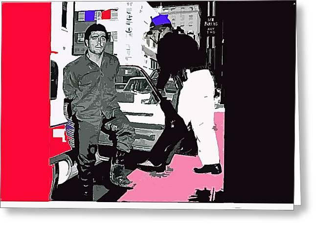 Charles Schmid Arrested  Tucson Arizona C.1965-2013  Greeting Card by David Lee Guss
