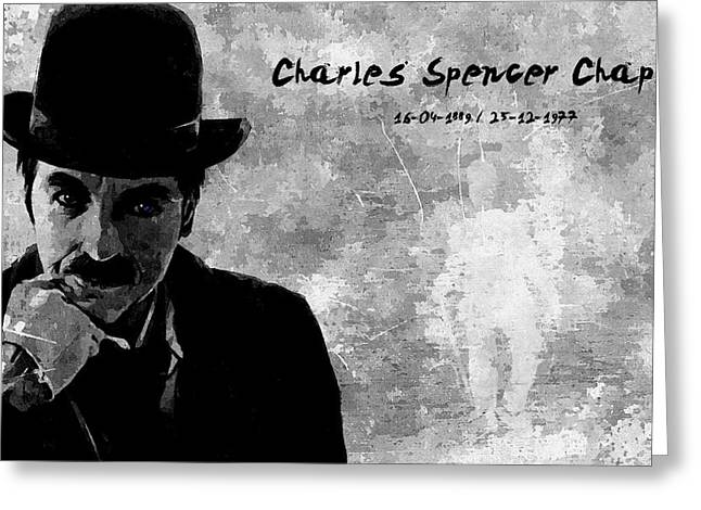 Chaplin Poster Greeting Cards - Charles Spencer Chaplin Greeting Card by Florian Rodarte