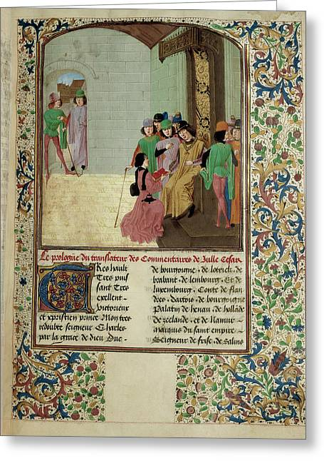 Charles The Bold And Author Greeting Card by British Library