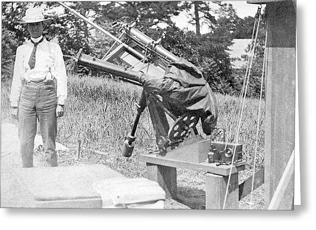Charles Young Greeting Card by Emilio Segre Visual Archives/american Institute Of Physics