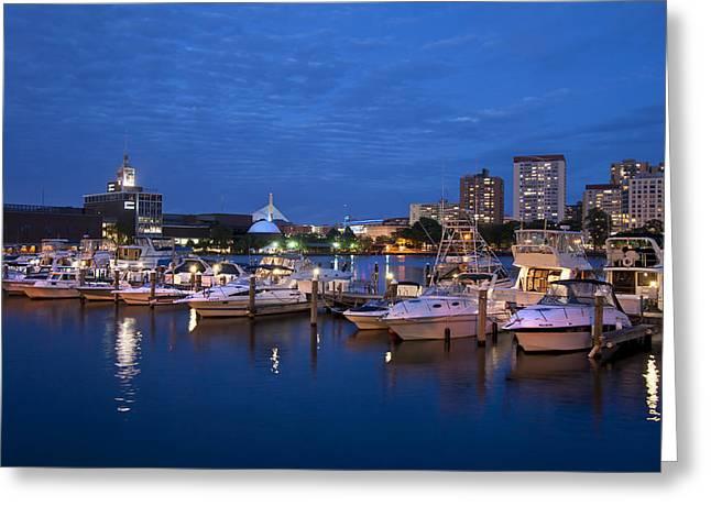 Charles River Greeting Cards - Charlesgate Yacht Club - Boston  Greeting Card by Joann Vitali