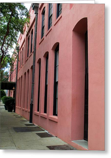 Rainbow Row Greeting Cards - Charleston 1 Greeting Card by Randall Weidner