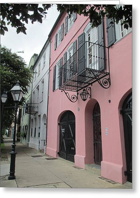 Rainbow Row Greeting Cards - Charleston 3 Greeting Card by Randall Weidner