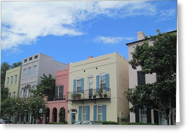 Rainbow Row Greeting Cards - Charleston 4 Greeting Card by Randall Weidner