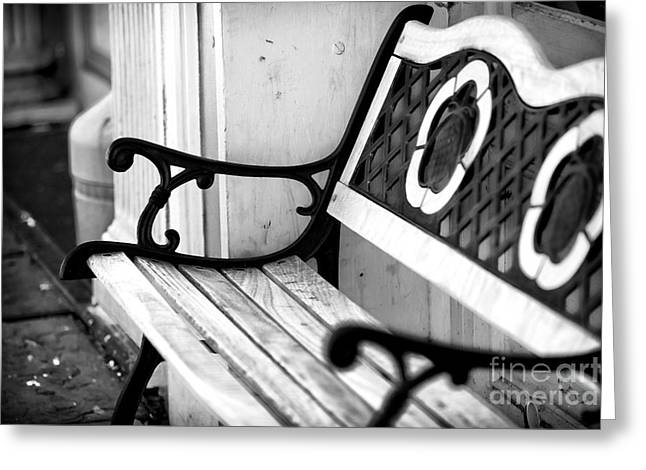 Southern Comfort Greeting Cards - Charleston Bench Greeting Card by John Rizzuto
