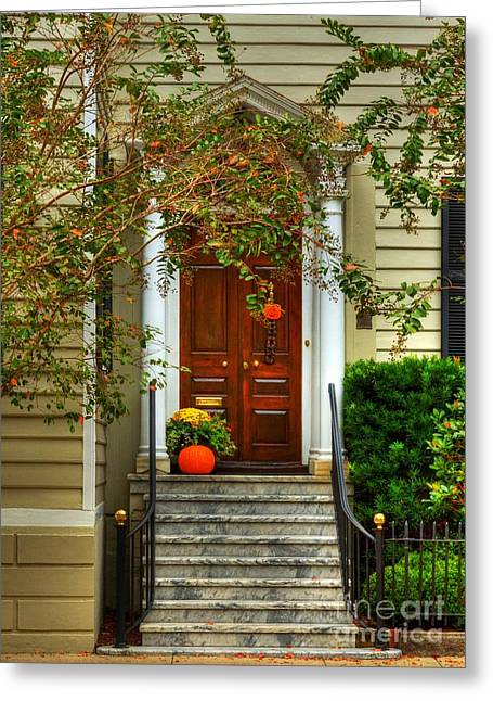 Fall Decoration Greeting Cards - Charleston Charm 4 Greeting Card by Mel Steinhauer