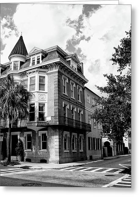 Crosswalk Greeting Cards - CHARLESTON CORNER Charleston SC Greeting Card by William Dey