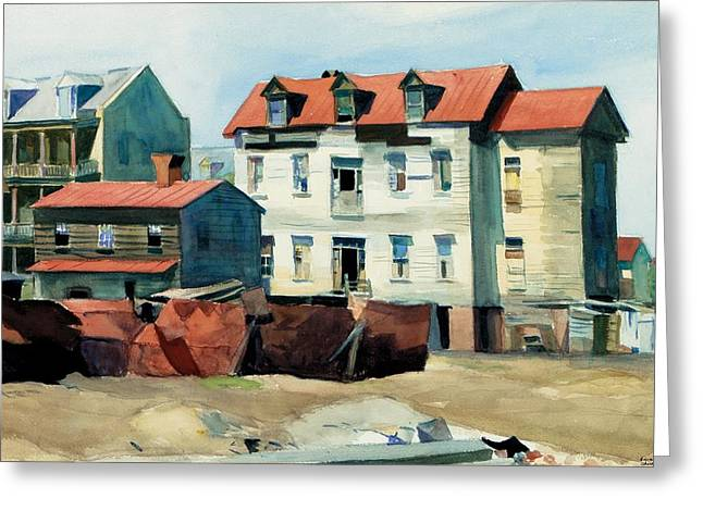 Twenties Greeting Cards - Charleston Greeting Card by Edward Hopper